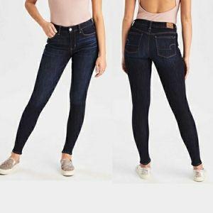 American Eagle High Rise Jegging Skinny Jeans Dark